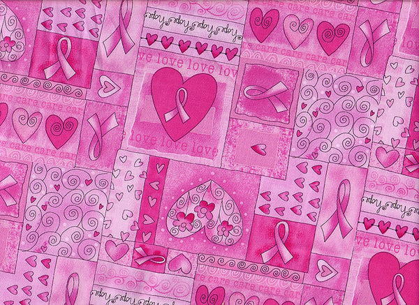 Close-up Scrub Cap Breast Cancer Ribbons