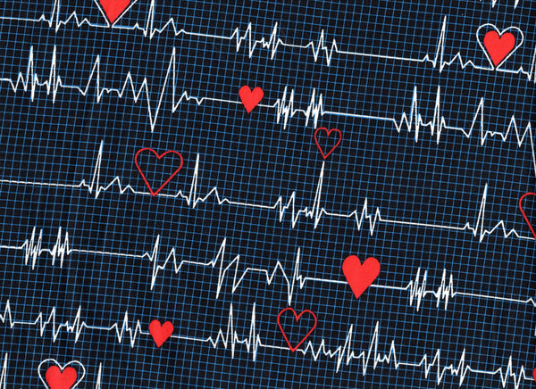 Close Up EKG black