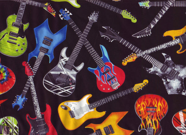 Close-Up Electric Guitars