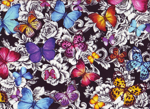 Close-Up Floral Butterflies