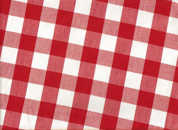 Close-up Bouffant Surgical Hats Gingham Red