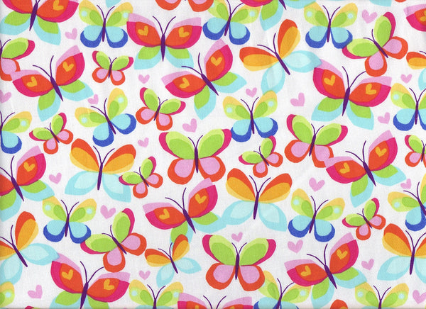 Close-up Fabric XLarge Love Butterflys