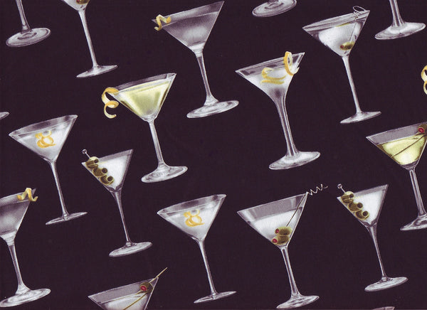 Close-up Fabric Martini Time