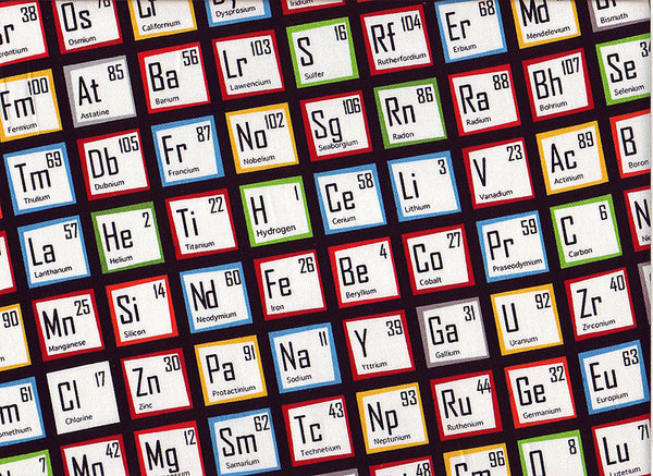 Close-up Surgical Caps Periodic Tables