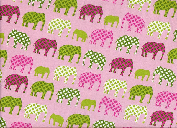 Close-up Bouffant Surgical Hats Pink Elephants