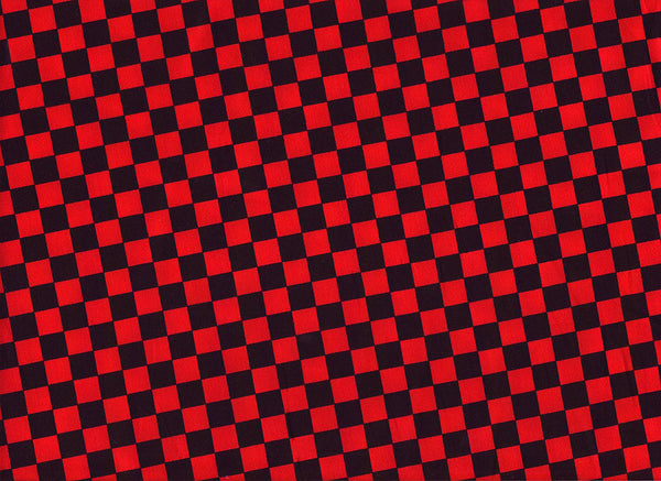 Close-up Surgical Cap Red Squares