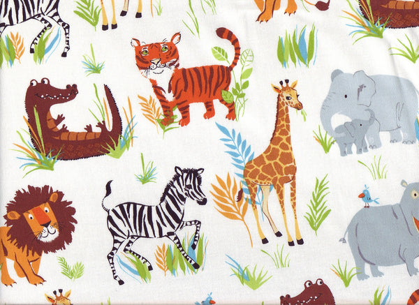Close-up Fabric Safari Jungle