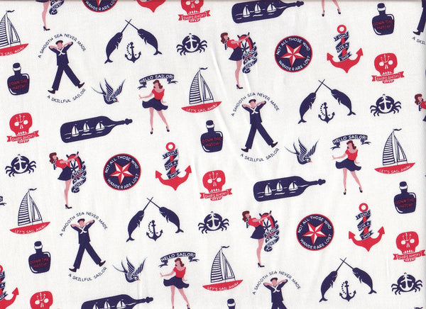 Close-up Fabric Sailors Days