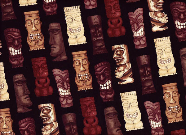 Close-up Stethoscope Covers Tiki Faces