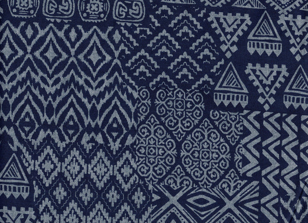 Close-Up fabric Tribal Indigo