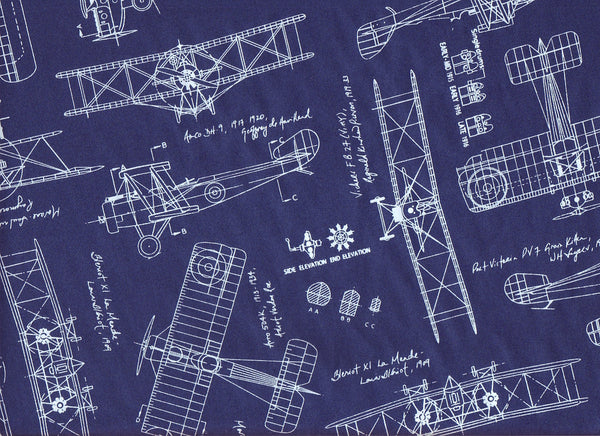 Close-up Fabric Vintage Aeroplanes