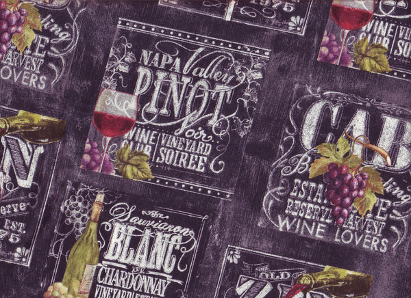 Close-up Fabric XLarge Wine Days