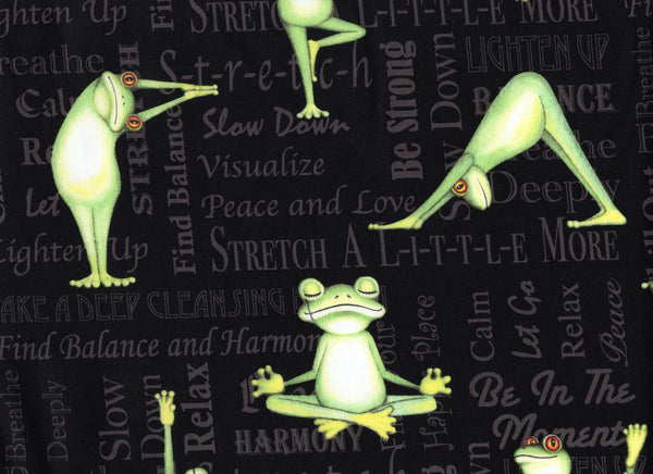 Close Up Yoga Frogs