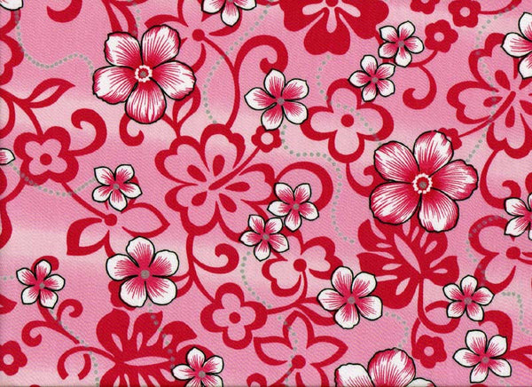 Fabric Close-Up Pink Flowers