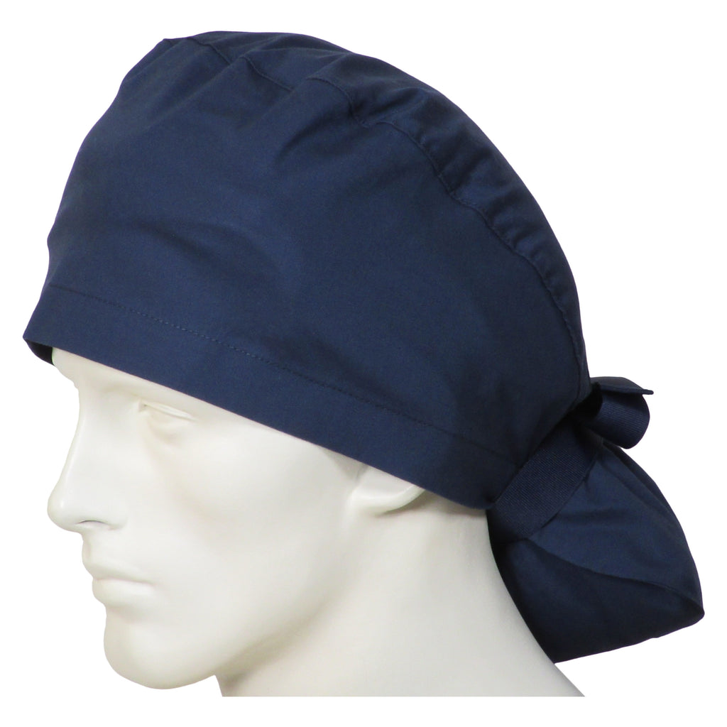 Ponytail Surgical Caps Deep Navy