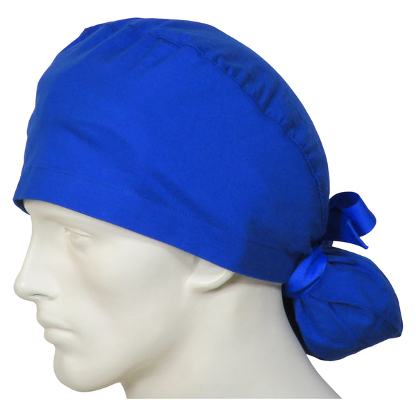 Ponytail Scrub Hats Ocean Blue