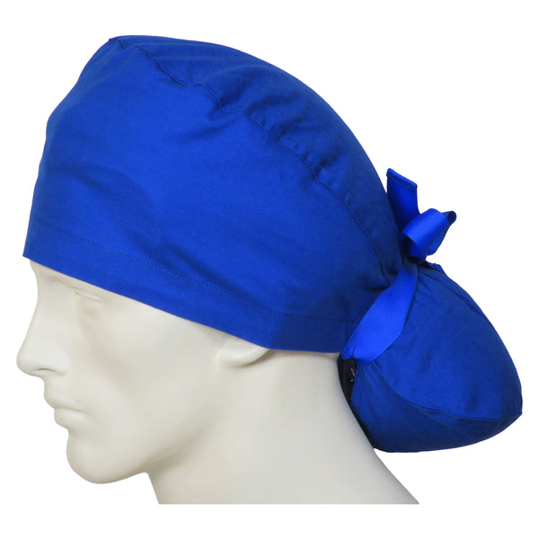 Ponytail Scrub Caps Ocean Blue