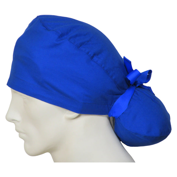 Ponytail Surgeon Caps Ocean Blue
