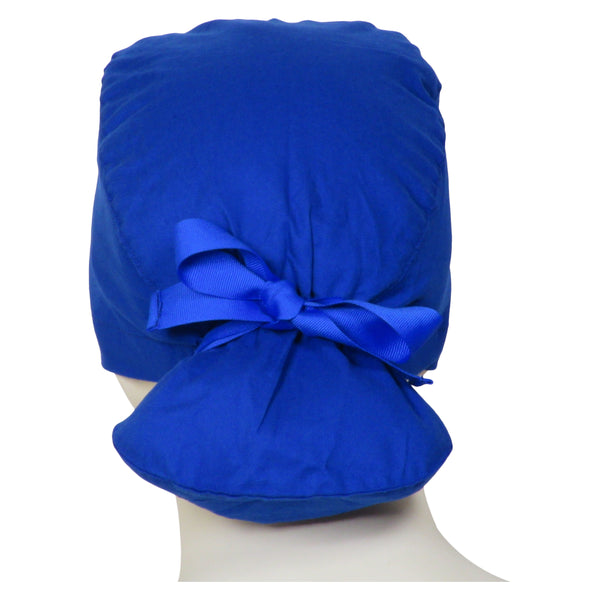 Ponytail Surgical Cap Ocean Blue