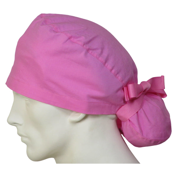 Ponytail Scrub Caps Sweet Pink