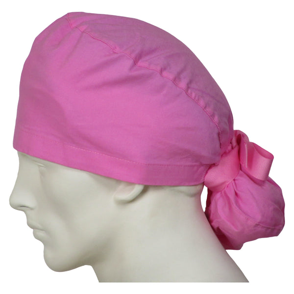 Ponytail Scrub Hats Sweet Pink