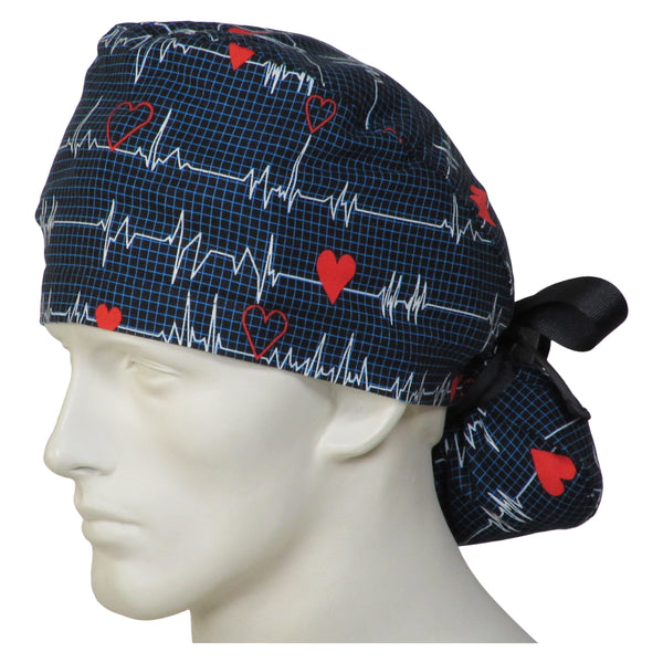 Ponytail Theatre Caps EKG Black