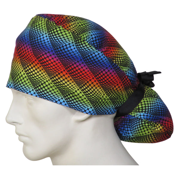 Ponytail Surgical Hats Pop Dot