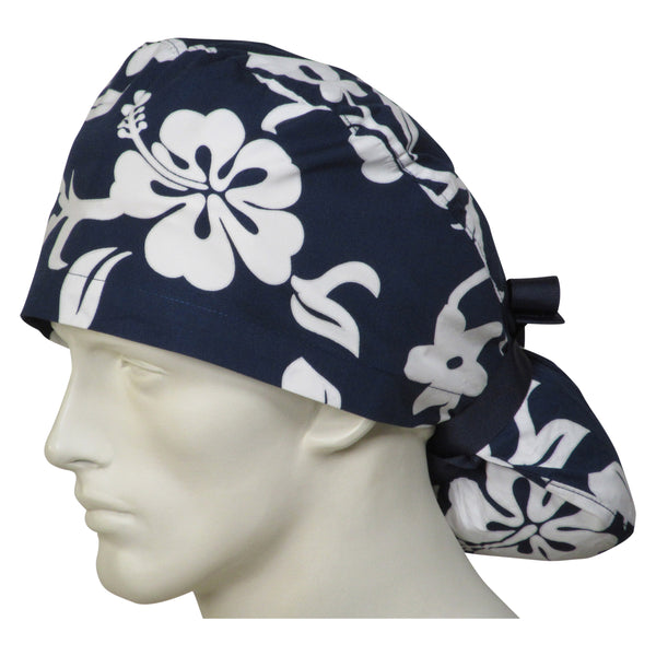 Ponytail Theatre Hats Navy Lava Flowers