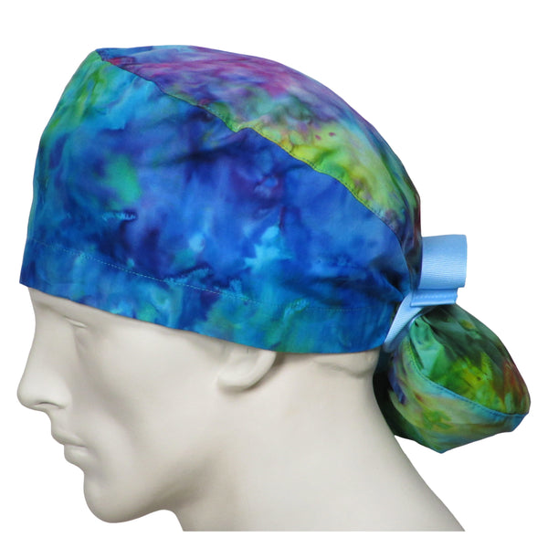 Ponytail Theatre Caps Tie Dye