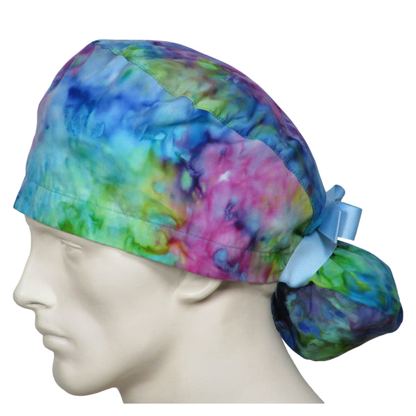 Ponytail Surgeons Caps Tie Dye