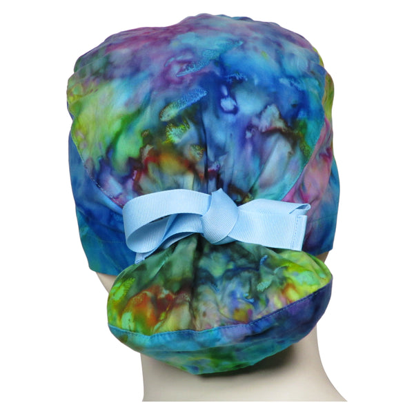 Ponytail Surgical Cap Tie Dye