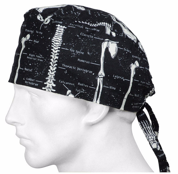 Surgical Scrub Caps Skeletons, glows in the dark