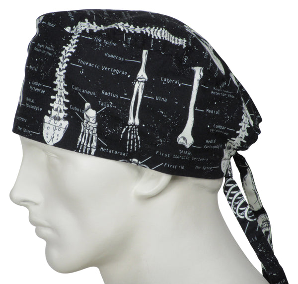 Surgical Scrub Caps Skeletons