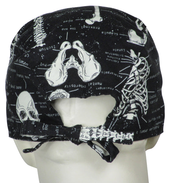 Surgical Scrub Hats Skeletons