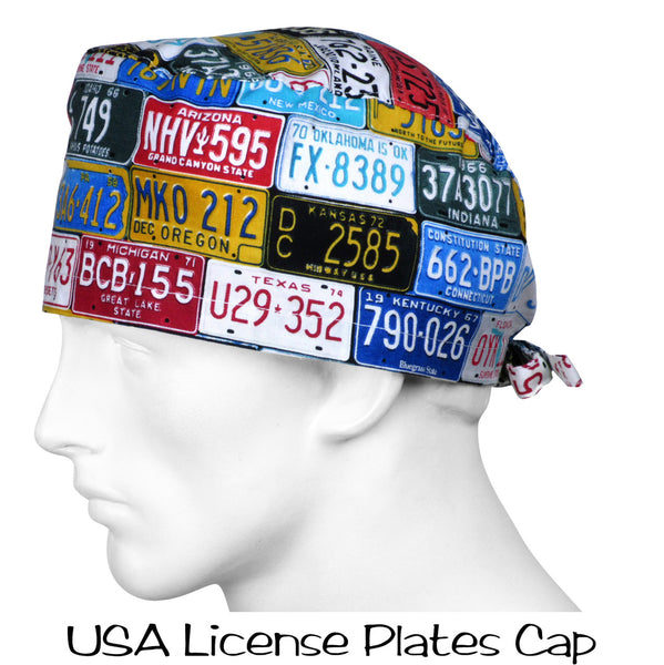 Surgical Caps USA License Plates