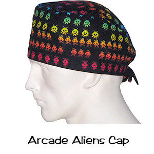 Surgical Caps Arcade Aliens