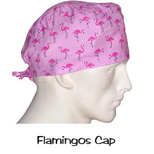 Scrub Hats Flamingos