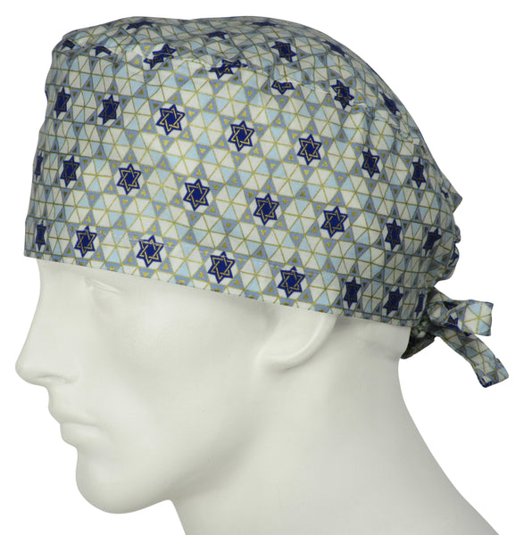 Scrub Hat Stars Of David