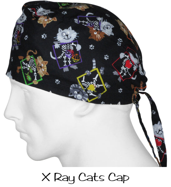 Scrub Surgical Caps X Ray Cats
