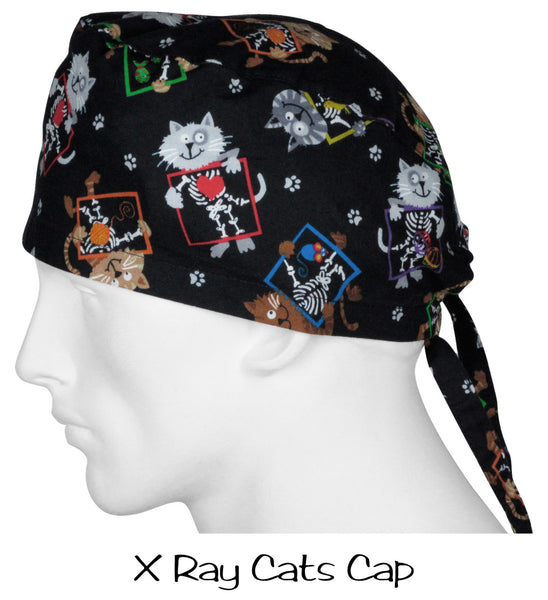 Surgical Scrub Caps X Ray Cats