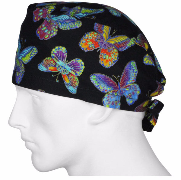 Scrub Surgical Hat Fall Butterflys