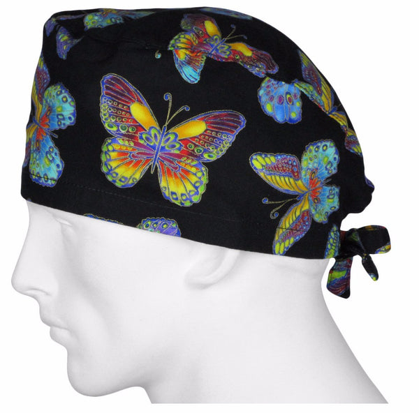 Scrub Surgical Hats Fall Butterflys