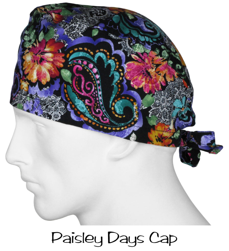Surgical Scrub Cap Paisley Days