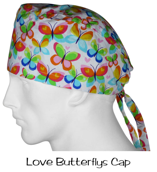 Surgical Scrub Caps Love Butterflys