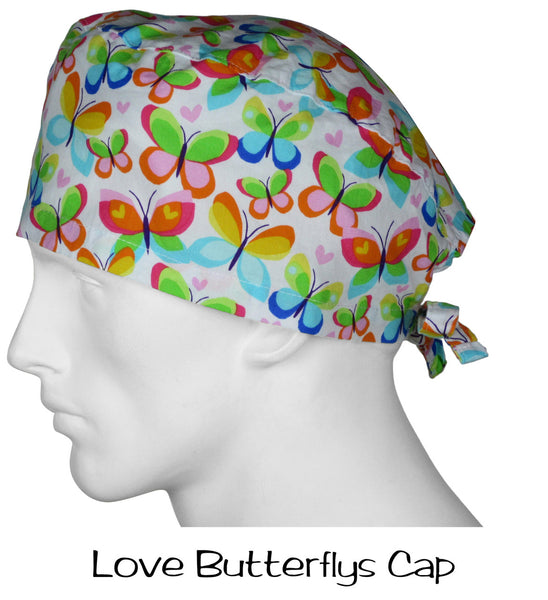 Scrub Surgical Cap Love Butterflys