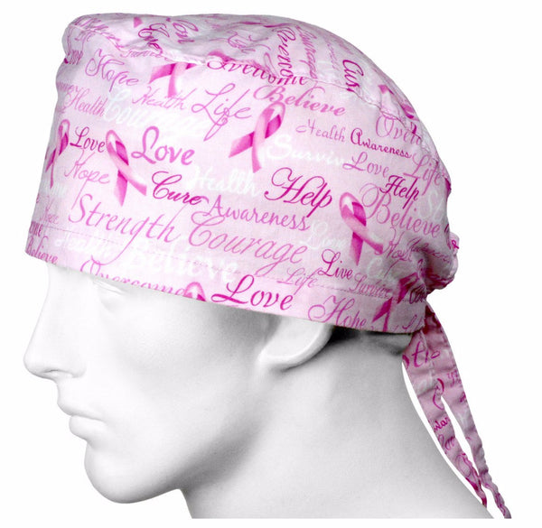 Scrub Hats Pink Ribbons