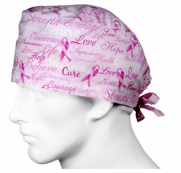 Surgical Caps Pink Ribbons