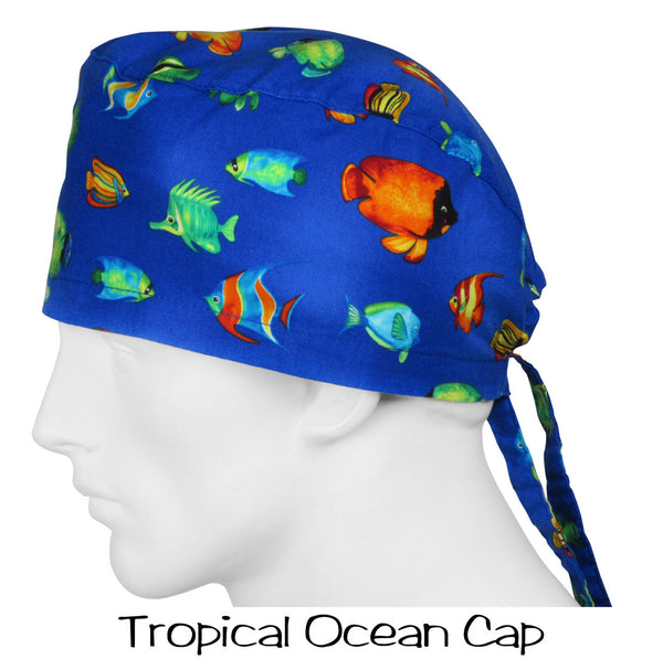 Scrub Caps Tropical Ocean