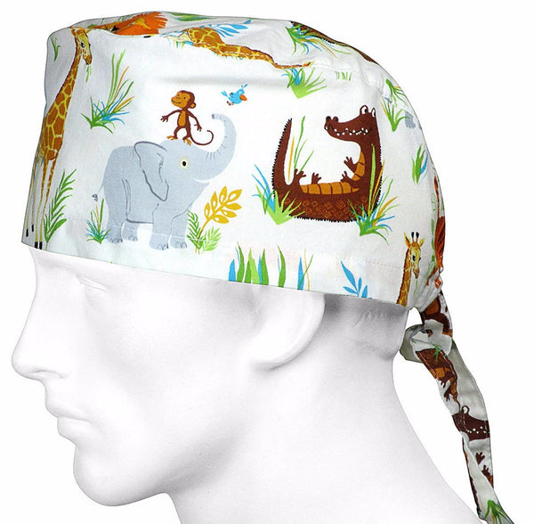 Surgical Hats Safari Jungle