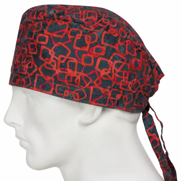 Mens Scrub Caps Red Hope